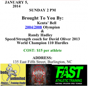 Speed Training 1-5-2014
